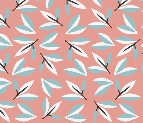 Forst Leaves fabric by lilalottadesign on Spoonflower - custom fabric