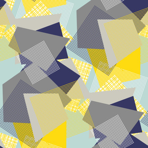 NORDIC Color Block yellow blue grey