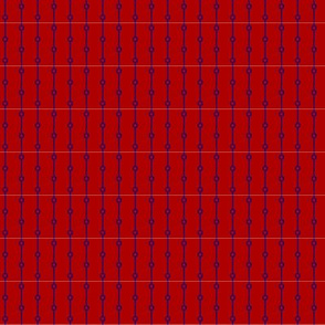 blue stripes with dots on red