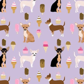 chihuahua ice cream dog beed pet fabric purple