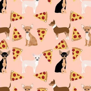 chihuahua pizza dog beed pet fabric blush