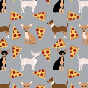chihuahua pizza dog beed pet fabric grey