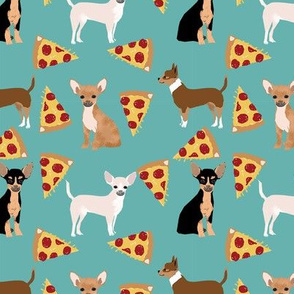 chihuahua pizza dog beed pet fabric blue