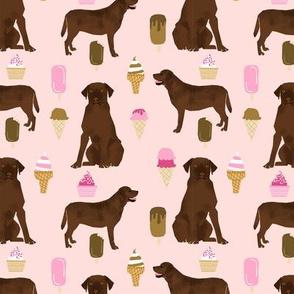 chocolate lab ice cream summer dog breed fabric labrador retriever pink