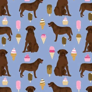 chocolate lab ice cream summer dog breed fabric labrador retriever purple