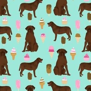 chocolate lab ice cream summer dog breed fabric labrador retriever blue
