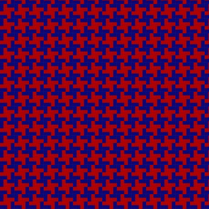 pepita red blue