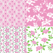 Pink and Green Floral 2 Fat Quarter