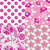 Pink and Green Floral 1 Fat Quarter