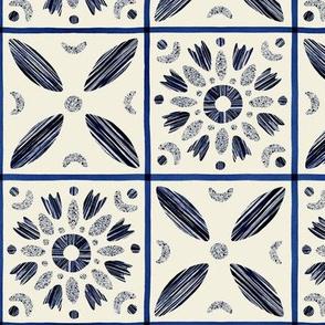 Modern granny square pattern
