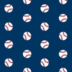 baseball sports themed baseballs fabric design navy