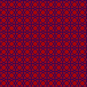 circles blue on red