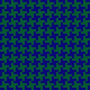 Pepita blue and green