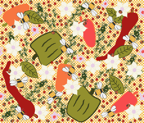 I Hope It's a Good Pepper Year! fabric by anniedeb on Spoonflower - custom fabric