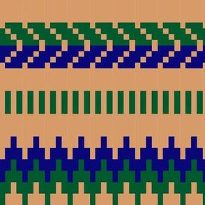Renates knittinge blue-green-beige