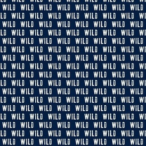 (extra small scale) wild on navy C18BS