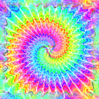 1 tie dye rainbow colourful psychedelic rave music festivals neon pink blue green spirals watercolor pop art hippies