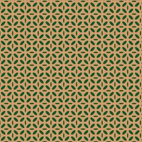 ellipse green on beige