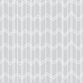 panda dreams chevron light grey reversed