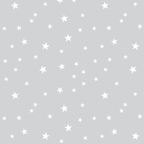 panda dreams stars light grey reversed fabric by misstiina on Spoonflower - custom fabric