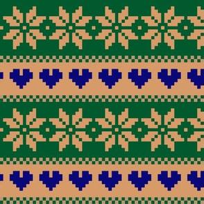 winterknit blue green beige