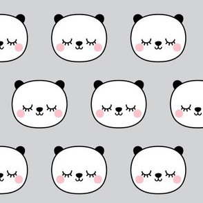panda dreams cheeky panda sleepy faces on light grey