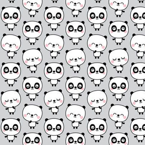 panda dreams cheeky pandas stacked on light grey small
