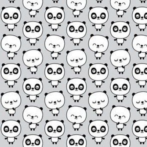 panda dreams pandas stacked on light grey small