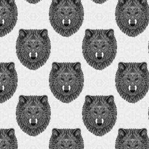 Grey Wolf (white)