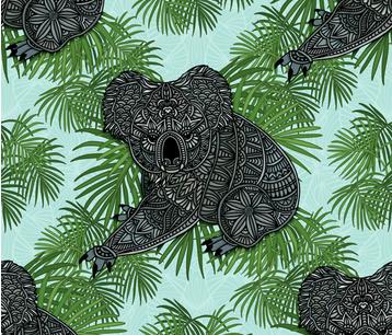 Tropical Koala fabric by artlovepassion on Spoonflower - custom fabric