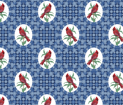 Christmas Cardinal 01 fabric by artlovepassion on Spoonflower - custom fabric