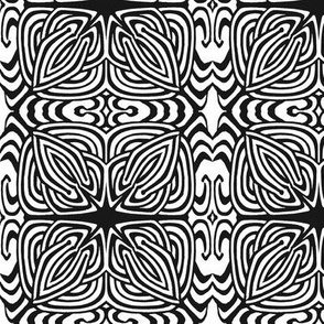 Black and white Celtic knot