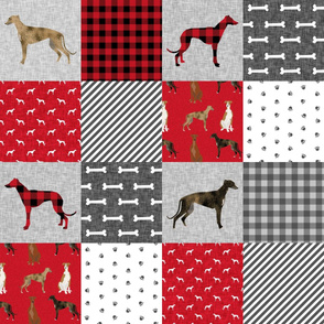 greyhound  pet quilt a cheater quilt nursery dog quilt
