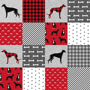 greyhound black pet quilt a cheater quilt nursery dog quilt
