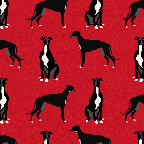 greyhound black pet quilt a coordinate nursery dog quilt  fabric by petfriendly on Spoonflower - custom fabric