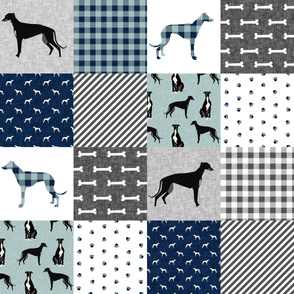 greyhound black pet quilt b cheater quilt nursery dog quilt