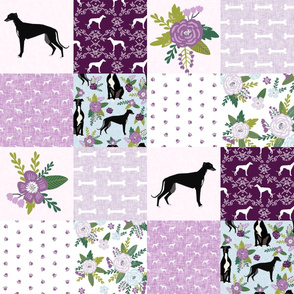 greyhound pet quilt c cheater quilt nursery dog quilt