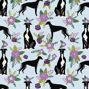 greyhound pet quilt c floral coordinate nursery dog quilt