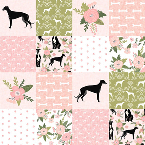 greyhound black pet quilt d cheater quilt nursery dog quilt
