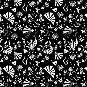 doodle palooza - black and white