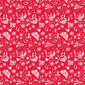doodle palooza - red and white