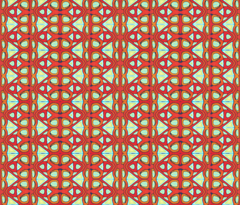 Vivid  Aztec fabric by doodlepippin on Spoonflower - custom fabric