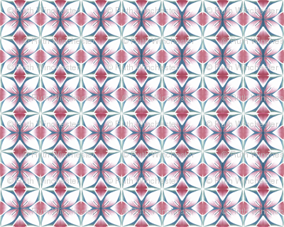 pink teal flower panel