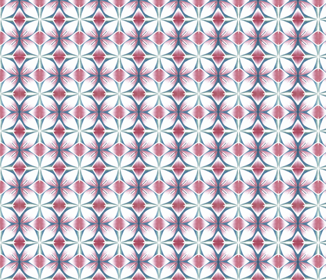 pink teal flower panel fabric by doodlepippin on Spoonflower - custom fabric