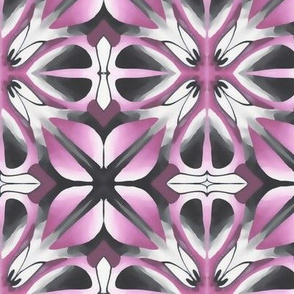 Pink Grey Geometric Flower