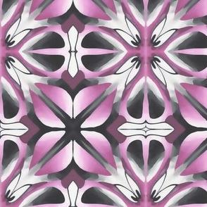 Pink Grey Geometric Flower