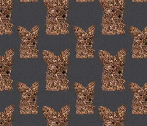 Yorkshire Terrier Puppy fabric by artlovepassion on Spoonflower - custom fabric