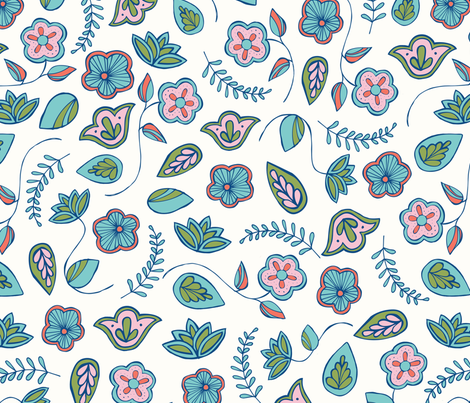 Indian Garden Large fabric by esther_loopstra_illustration on Spoonflower - custom fabric