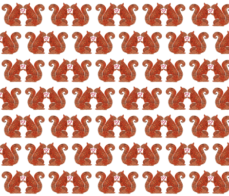 SQUIRREL LOVERS fabric by fabrose on Spoonflower - custom fabric