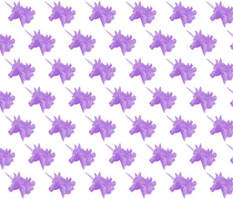 PURPLE UNICORN fabric by fabrose on Spoonflower - custom fabric
